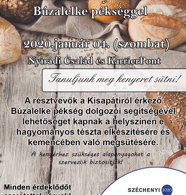 Kemencés kenyér és kalácssütés